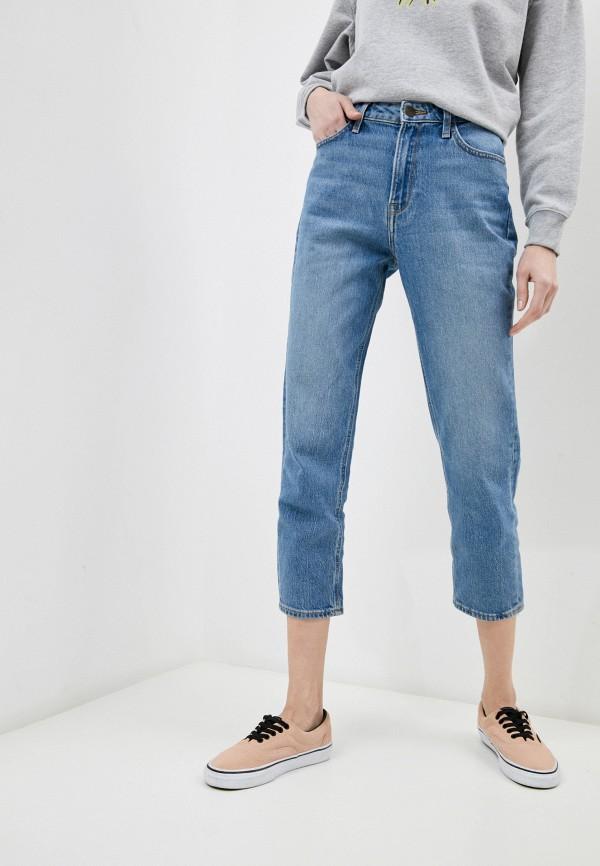 женские джинсы lee, голубые