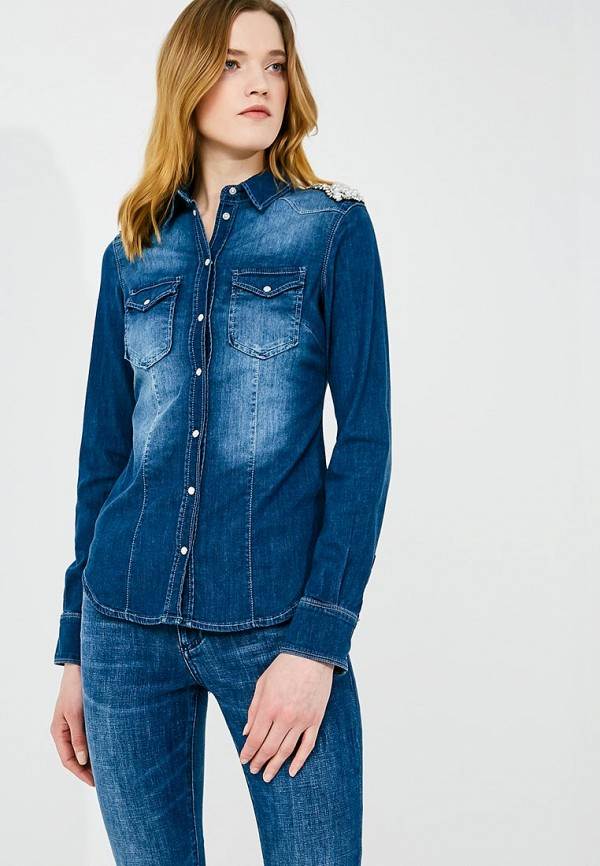 Рубашка джинсовая Liu Jo Liu Jo LI003EWZHE66 рубашка liu jo jeans f17270t9289 80322