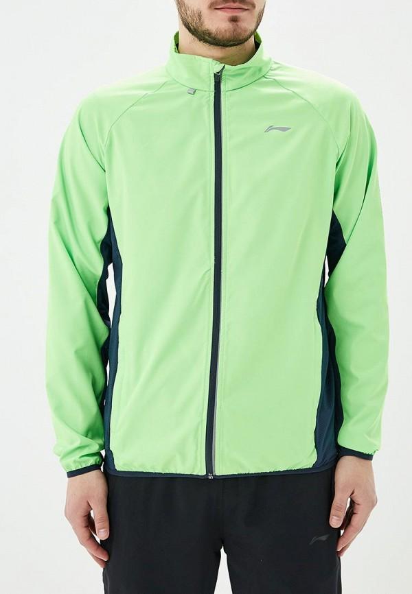 мужская куртка li-ning, зеленая