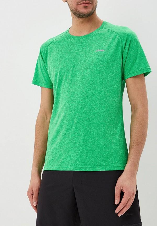 мужская спортивные футболка li-ning, зеленая