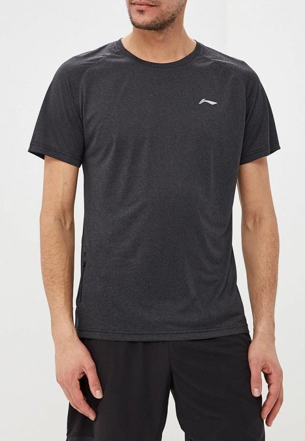 мужская спортивные футболка li-ning, серая