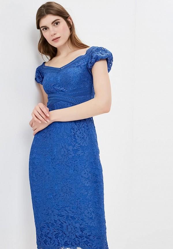 женское платье-футляр little mistress, синее