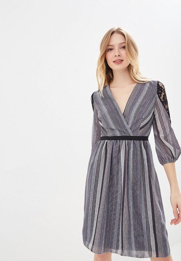 женское вечерние платье little mistress, серебряное