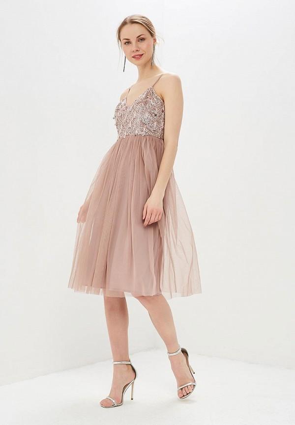женское платье little mistress, розовое
