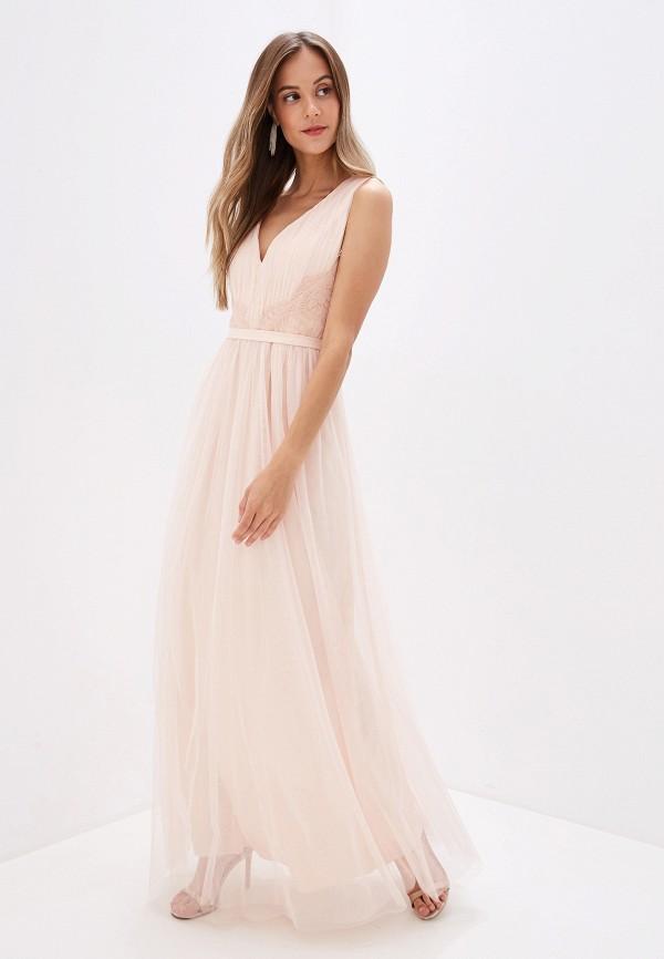 женское вечерние платье little mistress, бежевое