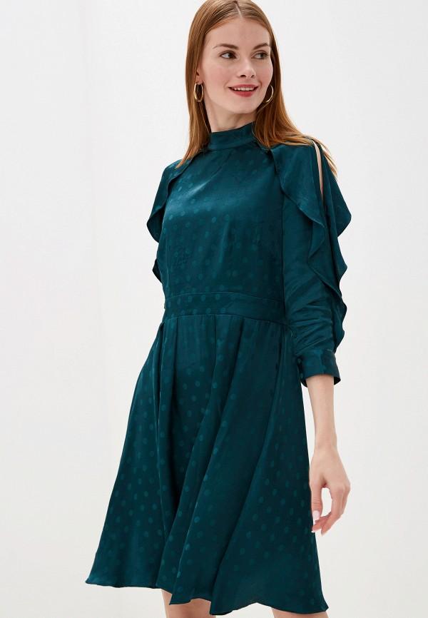 женское повседневные платье little mistress, зеленое