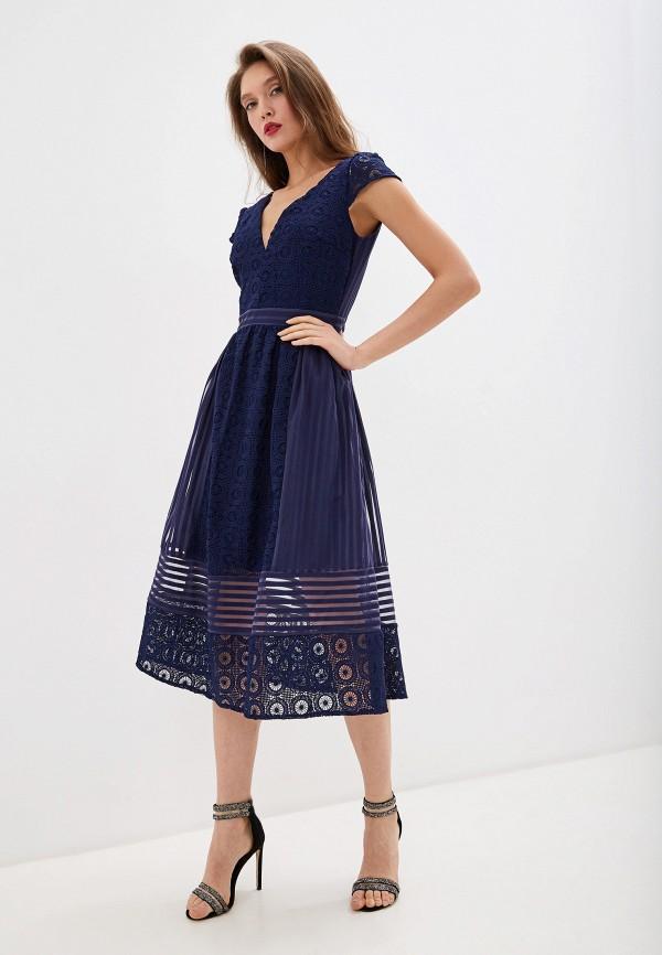 женское повседневные платье little mistress, синее