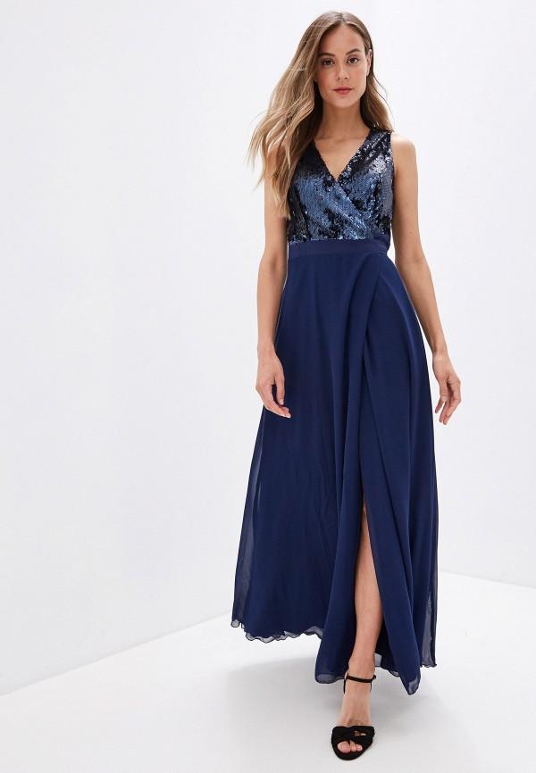 женское вечерние платье little mistress, синее