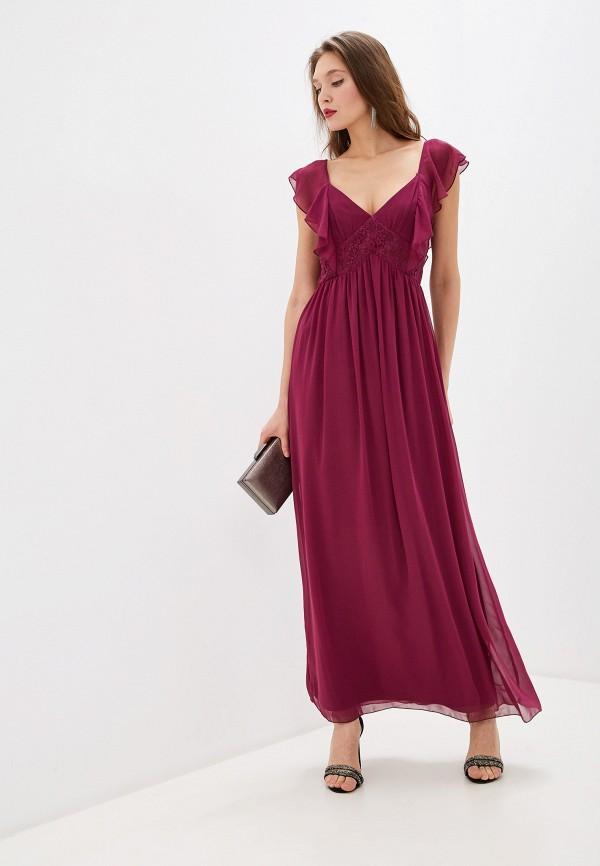 женское вечерние платье little mistress, бордовое