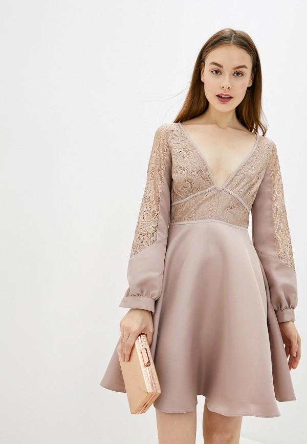 женское повседневные платье little mistress, розовое
