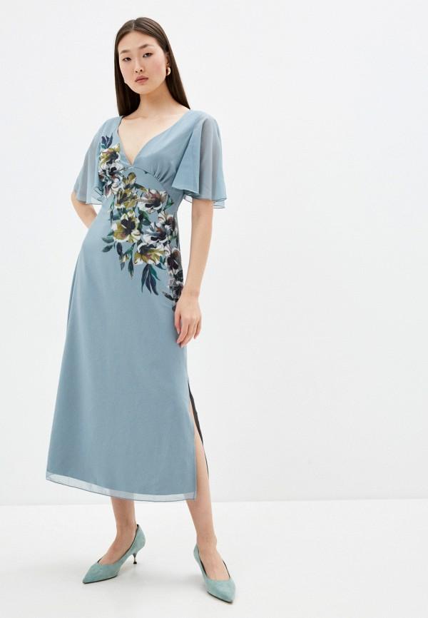 женское повседневные платье little mistress, голубое