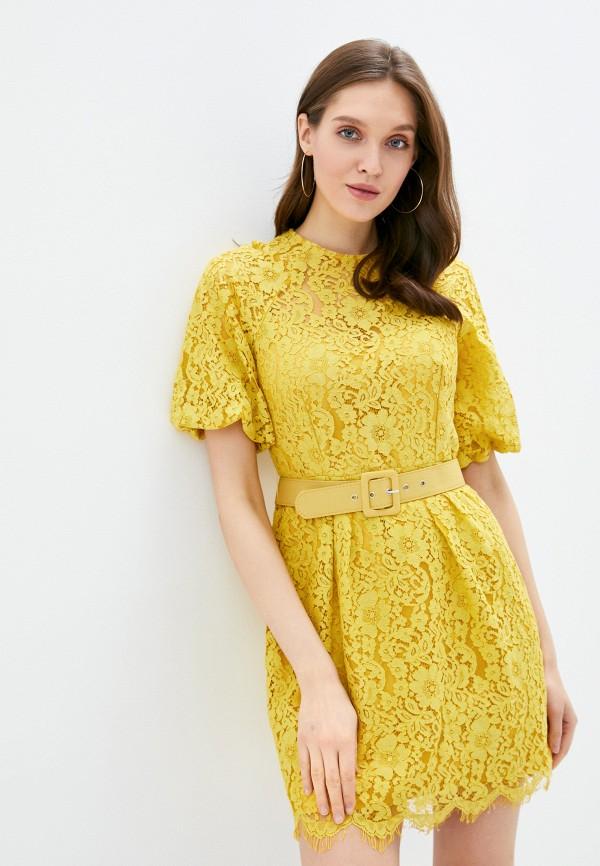 женское повседневные платье little mistress, желтое