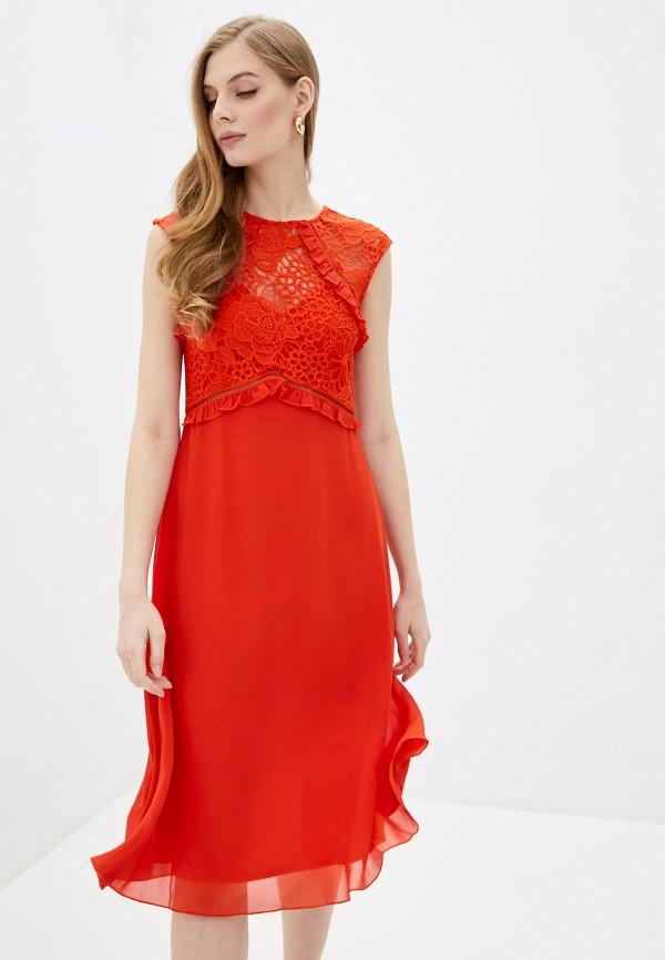 женское повседневные платье little mistress, оранжевое
