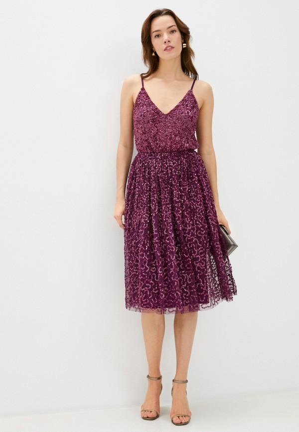 женское вечерние платье little mistress, фиолетовое