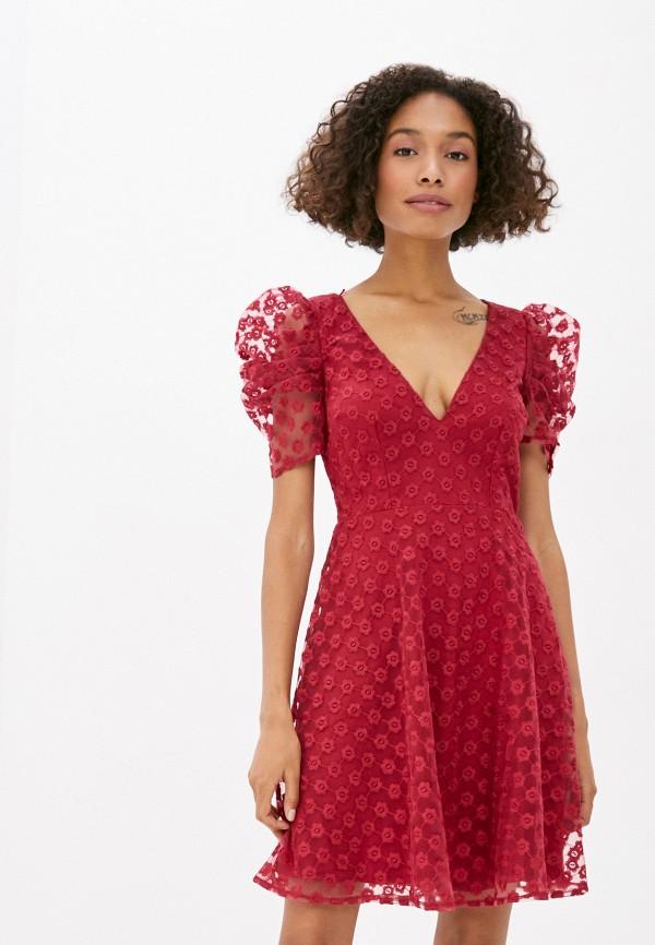 женское повседневные платье little mistress, бордовое