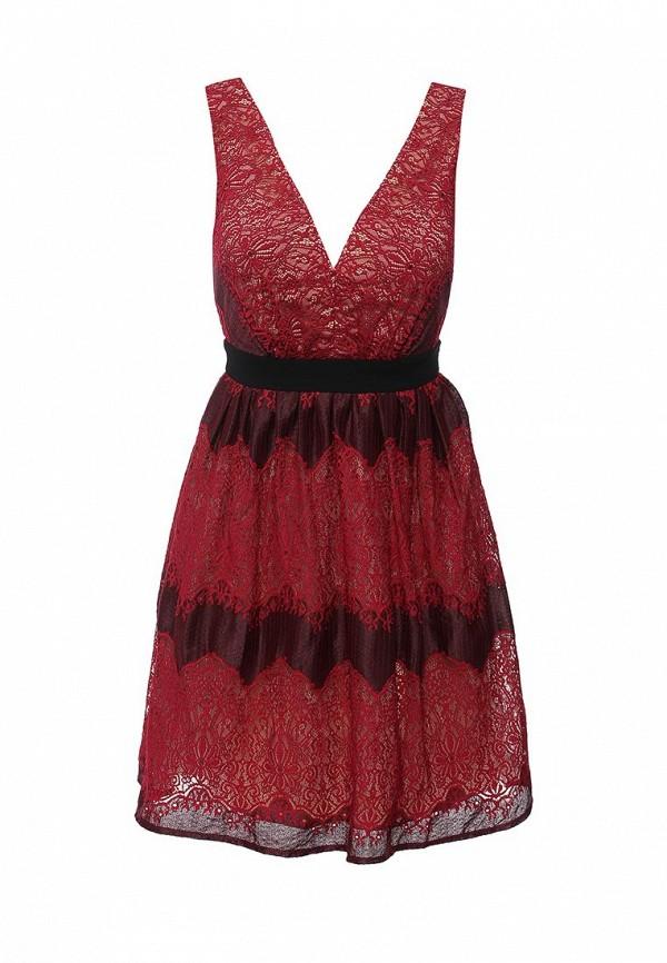 Платье Little Mistress, LI005EWKPG47, бордовый, Осень-зима 2016/2017  - купить со скидкой