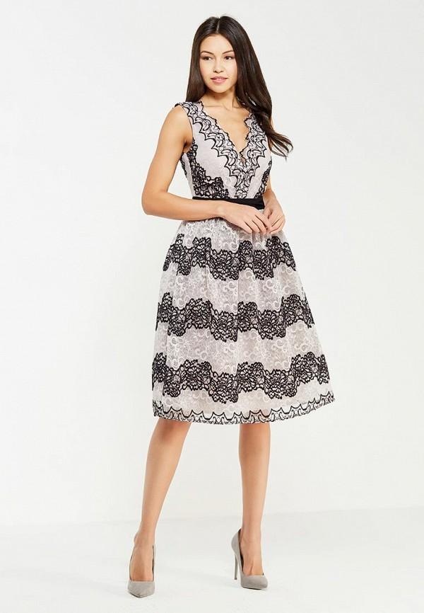 Фото 2 - женское вечернее платье Little Mistress серого цвета