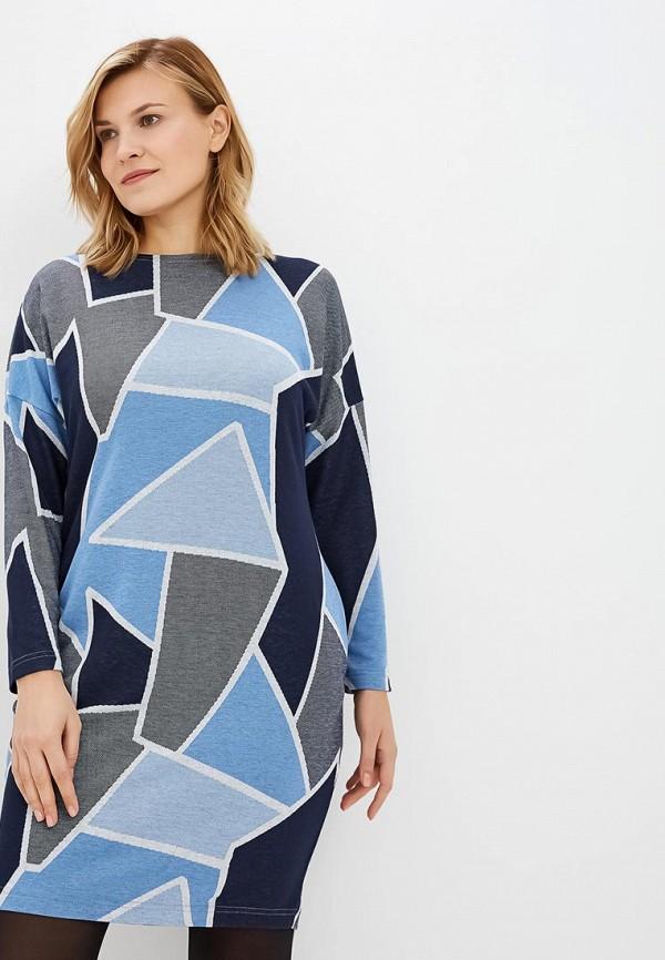 женское повседневные платье lina, синее