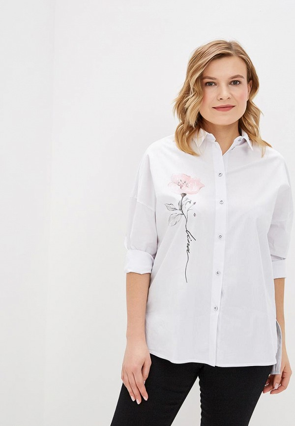 женская рубашка lina, белая