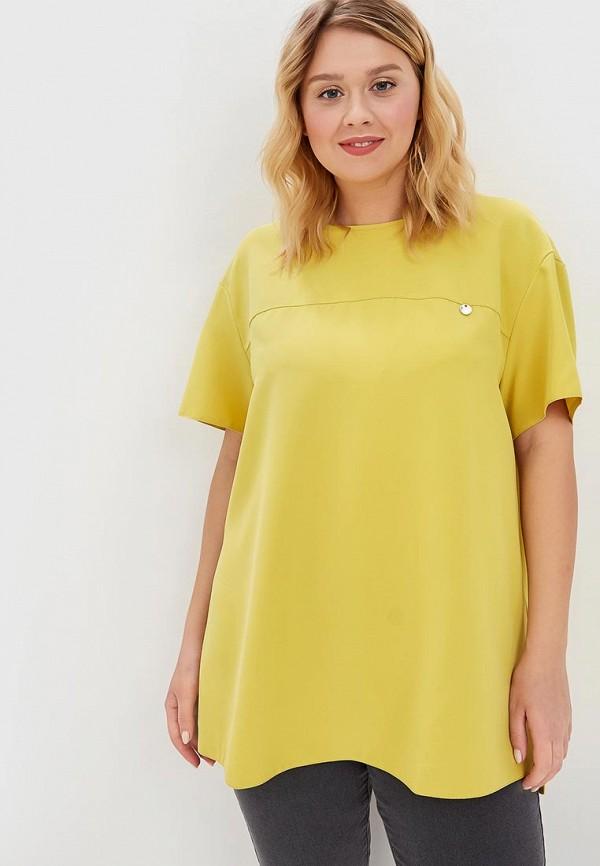 женская блузка lina, желтая