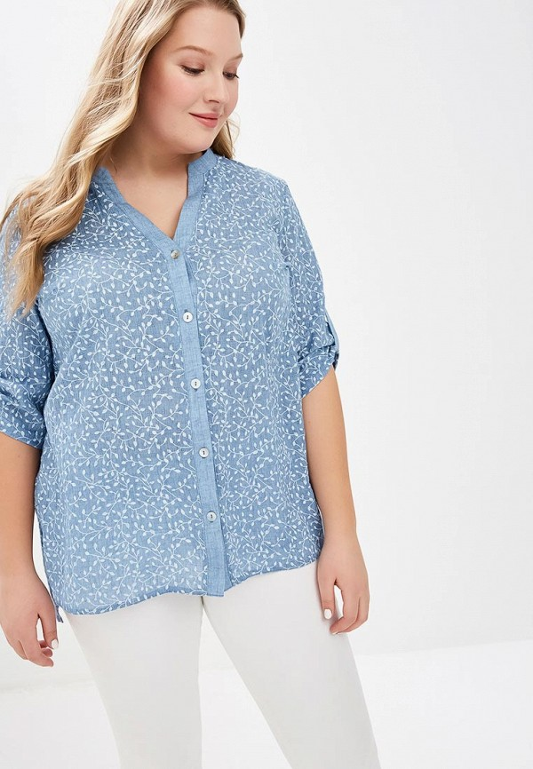 женская блузка lina, синяя