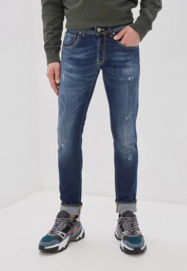 мужские зауженные джинсы liu jo, синие