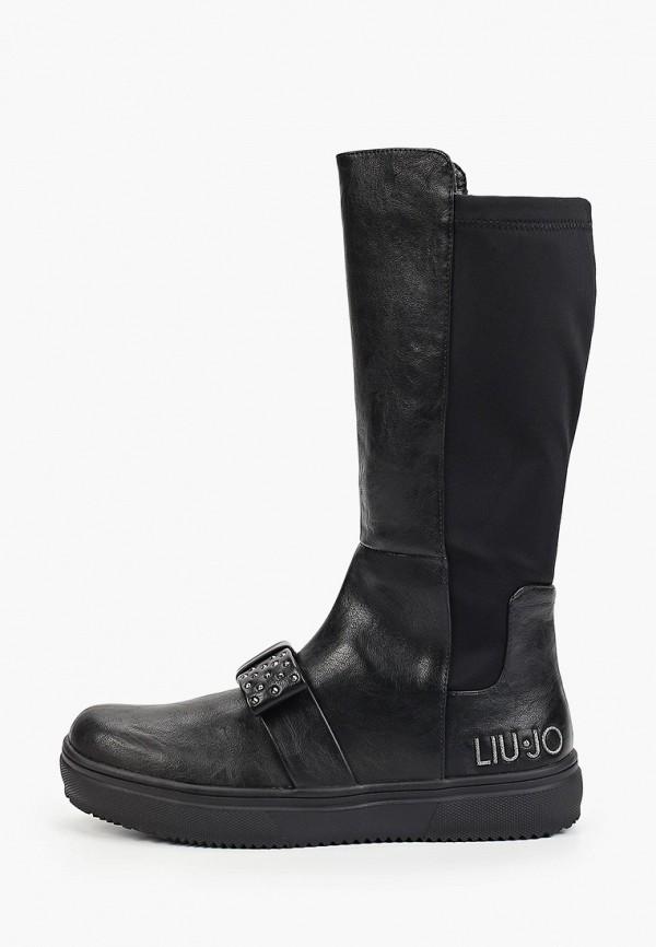 сапоги liu jo junior для девочки, черные