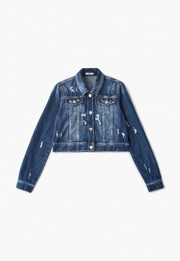 джинсовые куртка liu jo junior для девочки, синяя