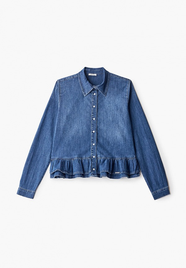 рубашка liu jo junior для девочки, синяя