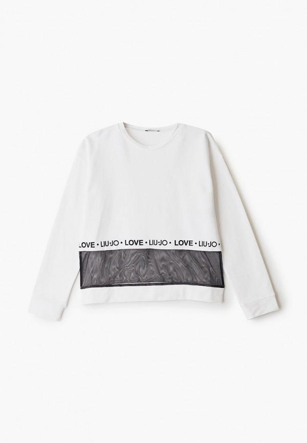 свитшот liu jo junior для девочки, белый