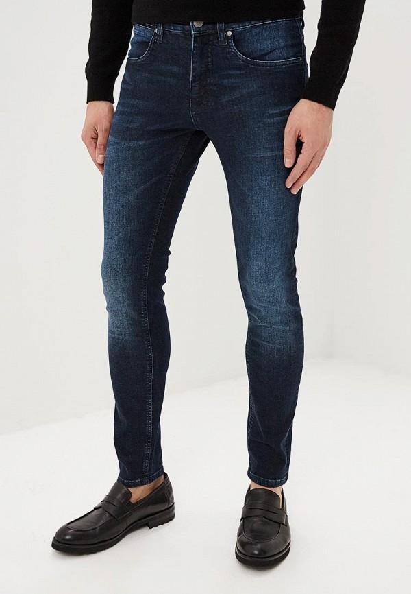 мужские зауженные джинсы lindbergh, синие