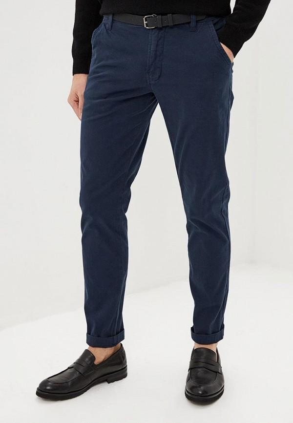 мужские зауженные брюки lindbergh, синие