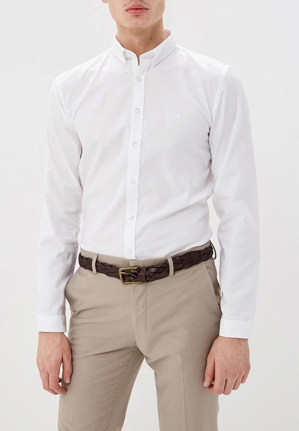 мужская рубашка с длинным рукавом lindbergh, белая