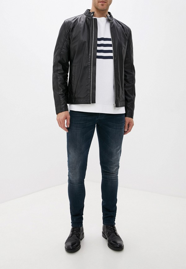 Фото 2 - Куртку кожаная Lindbergh черного цвета
