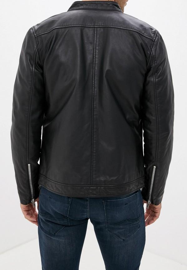 Фото 3 - Куртку кожаная Lindbergh черного цвета