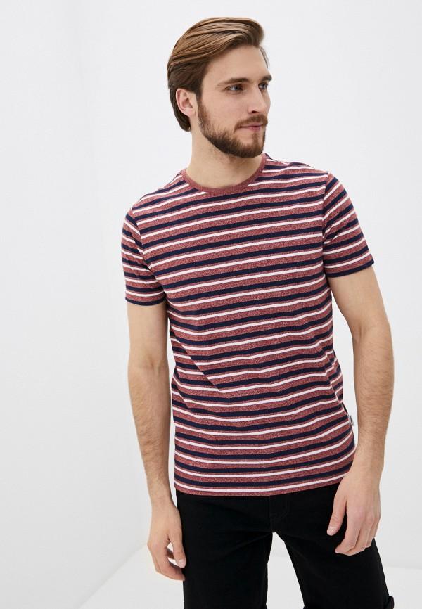 мужская футболка с коротким рукавом lindbergh, бордовая