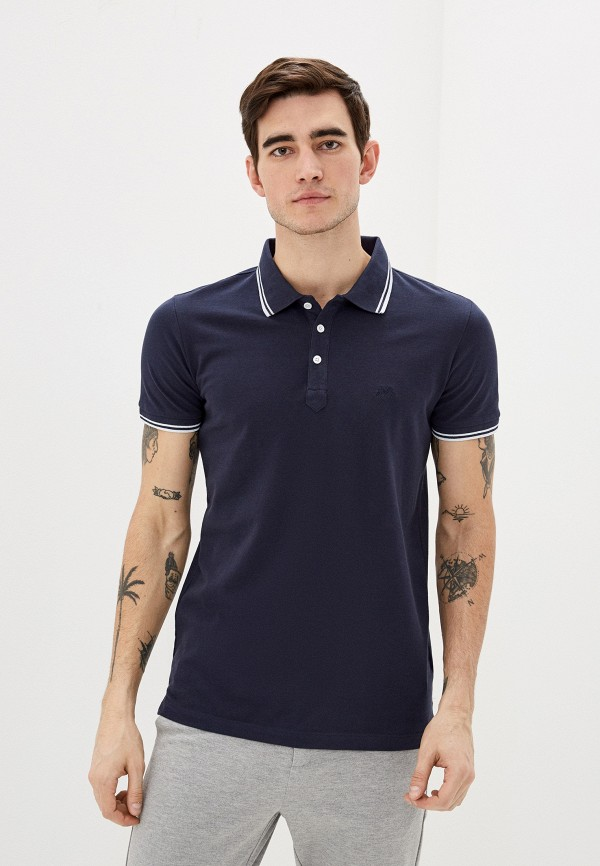 мужское поло lindbergh, синее