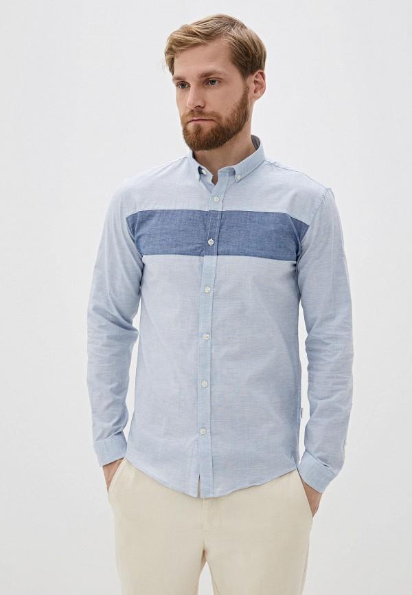 мужская рубашка с длинным рукавом lindbergh, голубая