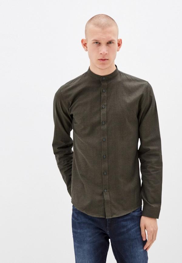 мужская рубашка с длинным рукавом lindbergh, хаки