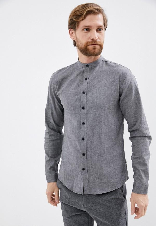 мужская рубашка с длинным рукавом lindbergh, серая