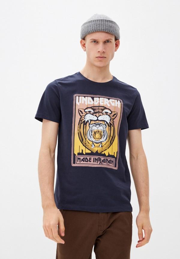 мужская футболка с коротким рукавом lindbergh, синяя