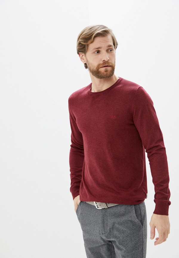 мужской джемпер lindbergh, бордовый