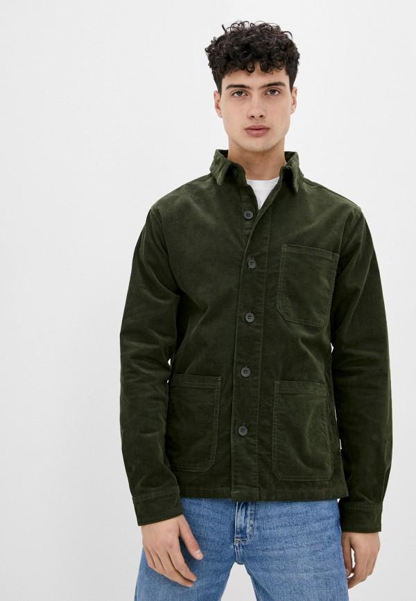 мужская рубашка с длинным рукавом lindbergh, зеленая