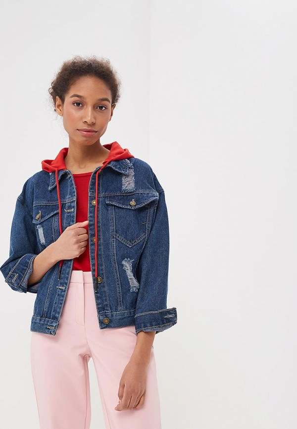 Куртка джинсовая Liana Liana LI039EWBHJV1 пальто liana liana li039ewbsbc5