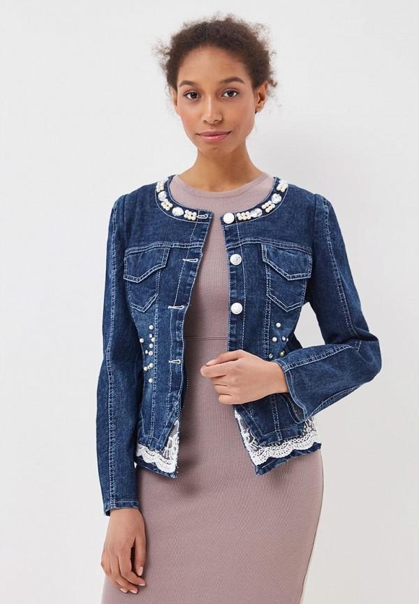 Куртка джинсовая Liana Liana LI039EWBHJW8 куртка джинсовая liana liana li039ewbhjw9
