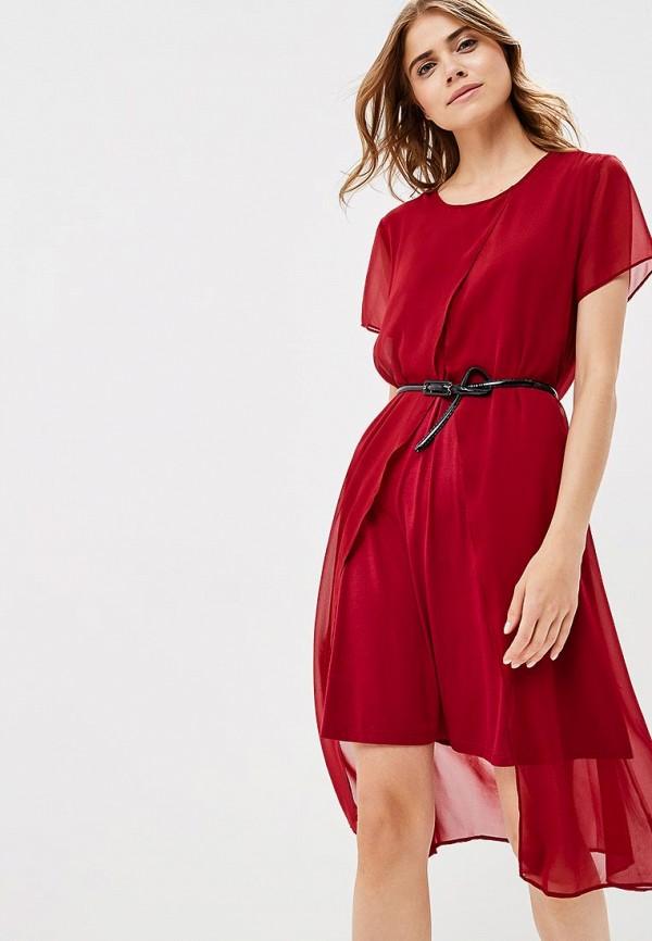 женское вечерние платье liana, бордовое