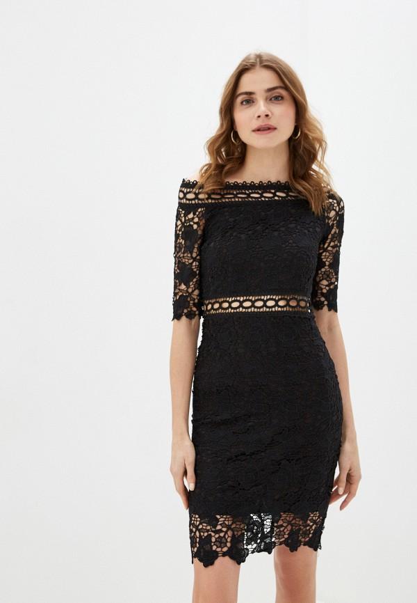 женское вечерние платье liana, черное
