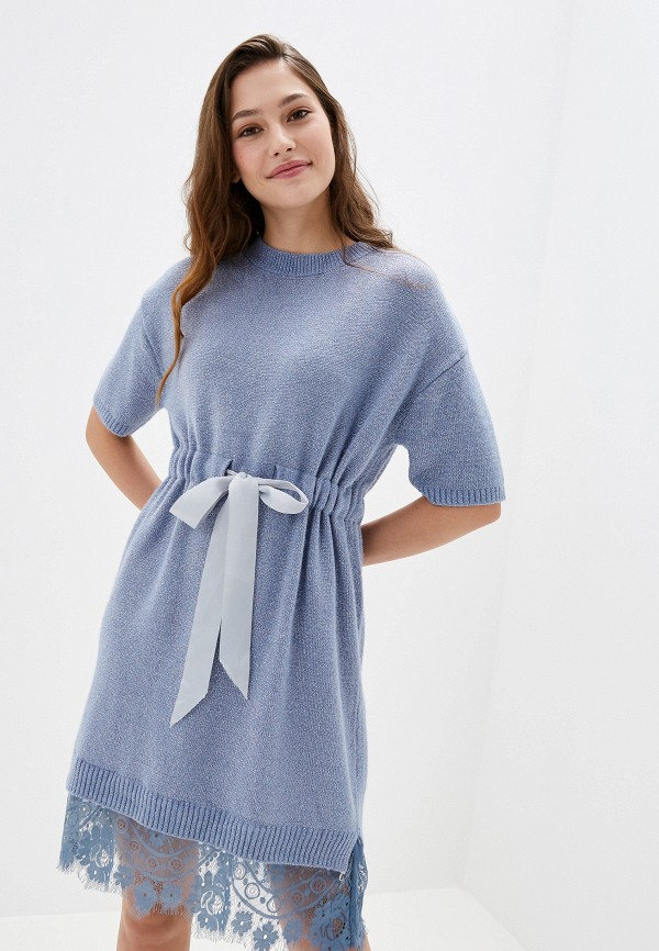 женское платье liana, голубое