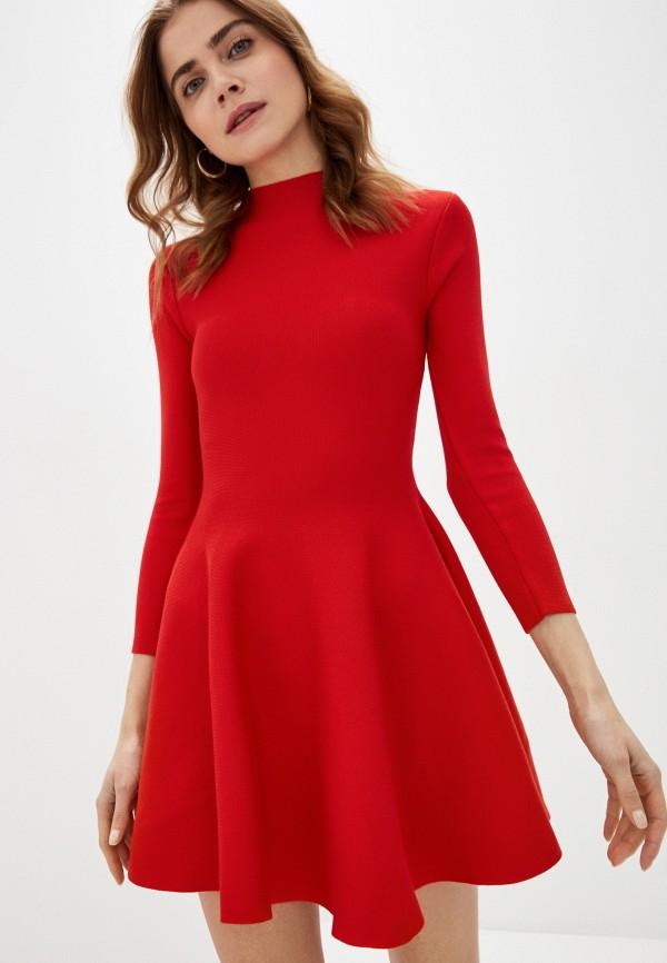 женское повседневные платье liana, красное