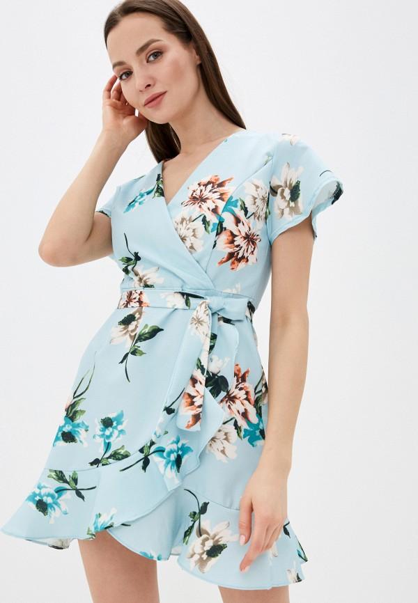 женское повседневные платье liana, голубое